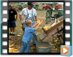 Rae Valley Heritage Association Video - Corn Shelling with Wooden Sheller