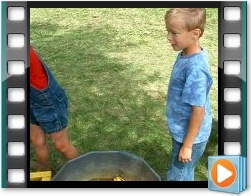 Rae Valley Heritage Association Video - Kids Shelling and Grinding Corn