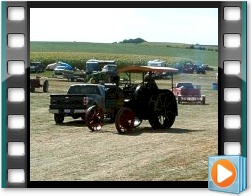 Rae Valley Heritage Association Video - Antique Rumely Oil Pull Tractor on the Move